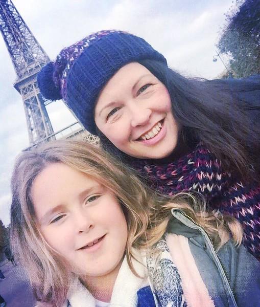 Jacqueline & Scarlett at Tour Eiffel, Champ de Mars, Paris, France