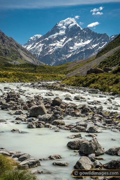 Hooker River Below Mt Cook