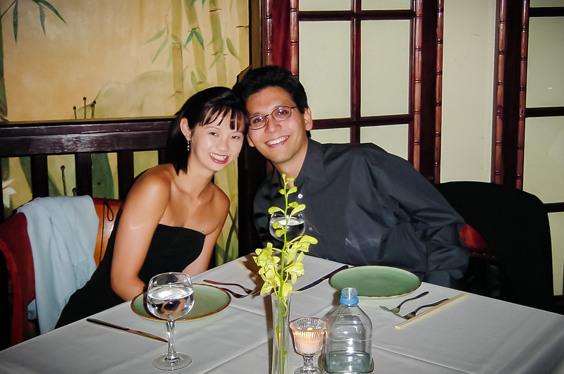 2001 08/16: Fifth Anniversary Dinner at Crustacean