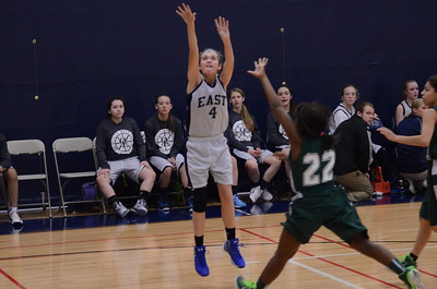 Oswego East girls basketball B game Vs Plainfield Central 2015