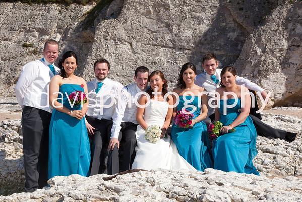 Clare & Philip White Rocks Beach Wedding Photography