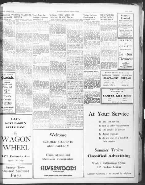 Summer Trojan, Vol. 17, No. 1, June 20, 1938