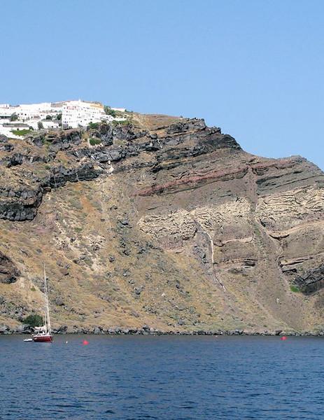 Santorini Volcanic layers