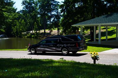 Patriotic Funeral Coach at Woodridge