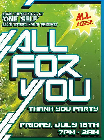 All For You Thank You Party by Jeepster