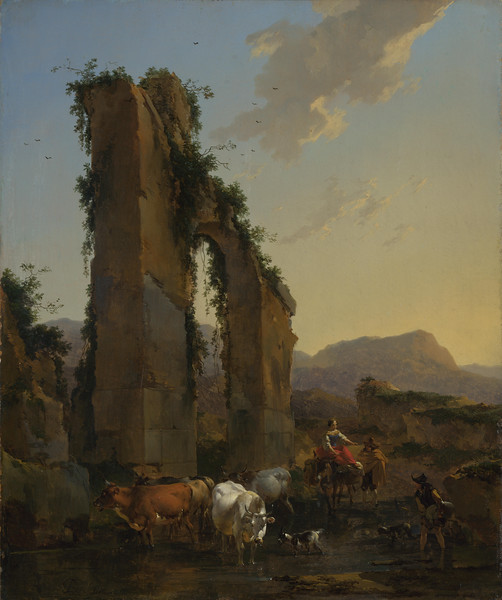 Peasants by a Ruined Aqueduct