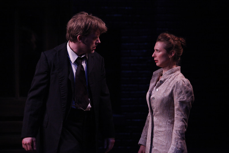 Eric Martin Brown and Julia Coffey in THE WIDOWING OF MRS. HOLROYD by D.H. Lawrence  Photo: Richard Termine