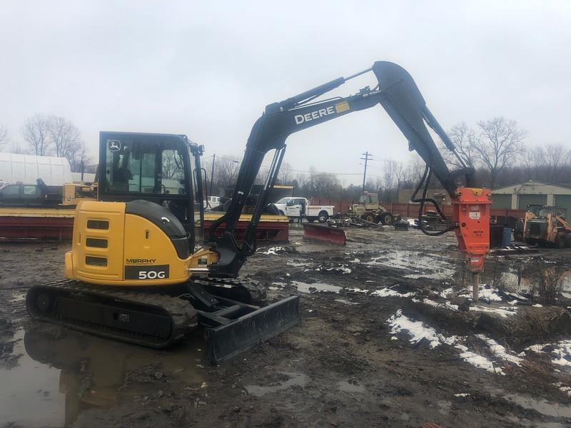 NPK PH3 hydraulic hammer on Deere 50G mini excavator - Sherman & Sons in Grafton, OH - Murphy Brunswick  2-20 (4).jpg