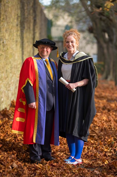 02/11/2016. Waterford Institute of Technology (WIT) Conferring Ceremonies November 2016:  Pictured is Dr Derek O'Byrne, Registrar WIT and Aishling O'Toole from Carlow who graduated with an MA in Teaching and Learning in Further and Higher Education. Picture: Patrick Browne