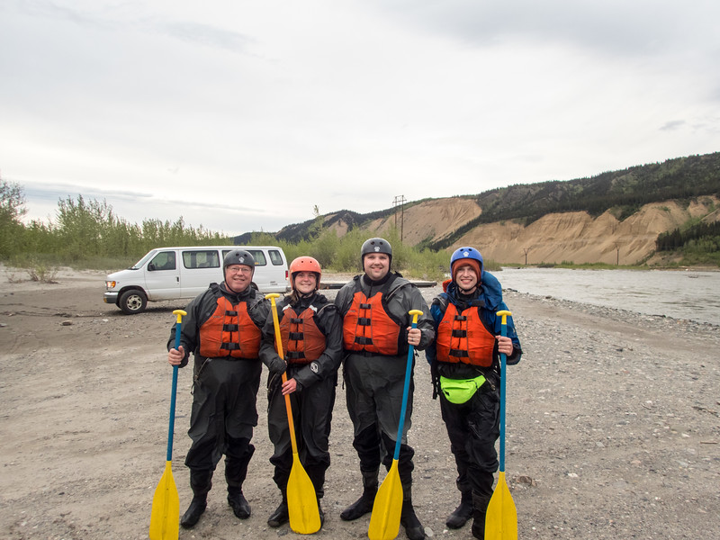 Getting Ready to Raft on the Nenana River.