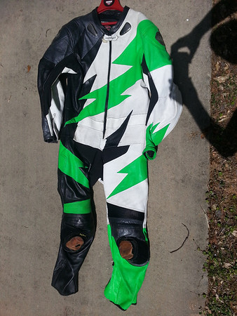 AGV - Green/black/white leathers