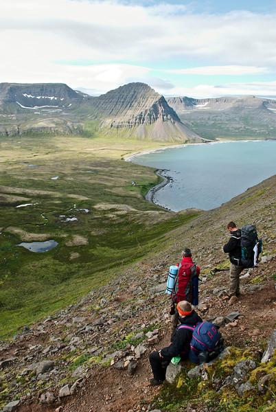 Horft yfir Hlöðuvík