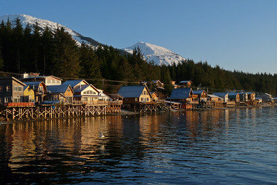Morning Light and High Tide - East End of Tenakee December 2011, Cynthia Meyer, Tenakee Springs, Alaska