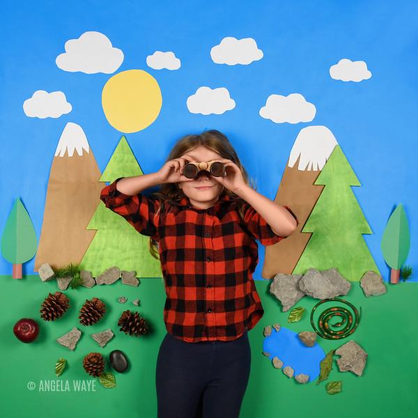 Flat Lay Nature Child Explorer