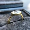 1.17ct Antique Moval Cut Diamond Bezel Ring, GIA E SI1 8