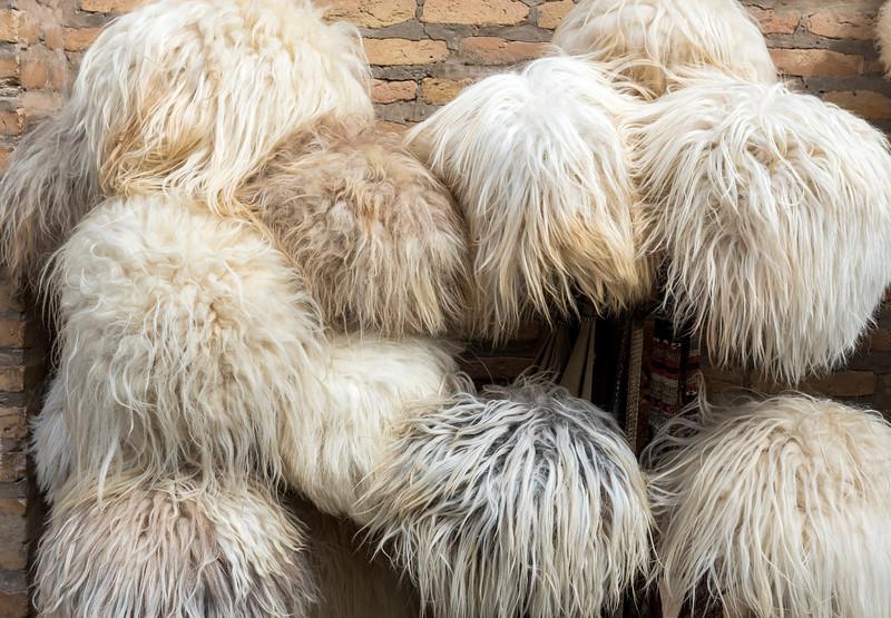 Traditional Chugirma Fur Hats , Uzbekistan