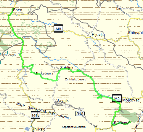June 27th, 2013 - Jajce to Kolasin