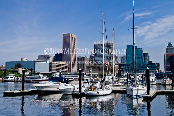 Inner Harbor Boats - 26 Jun 11