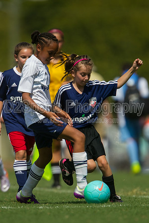 GUSA U11 ROYAL vs GUSA STARS - U11 Girls  8/16/2014