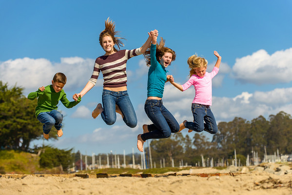 Jenelle and Family (Family Portraits, Seabright Beach, Santa Criuz California)