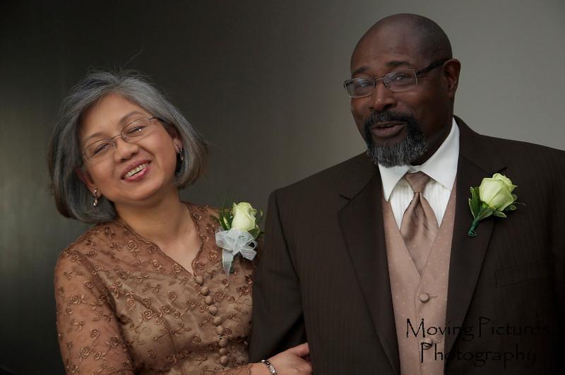 Proud parents of the bride