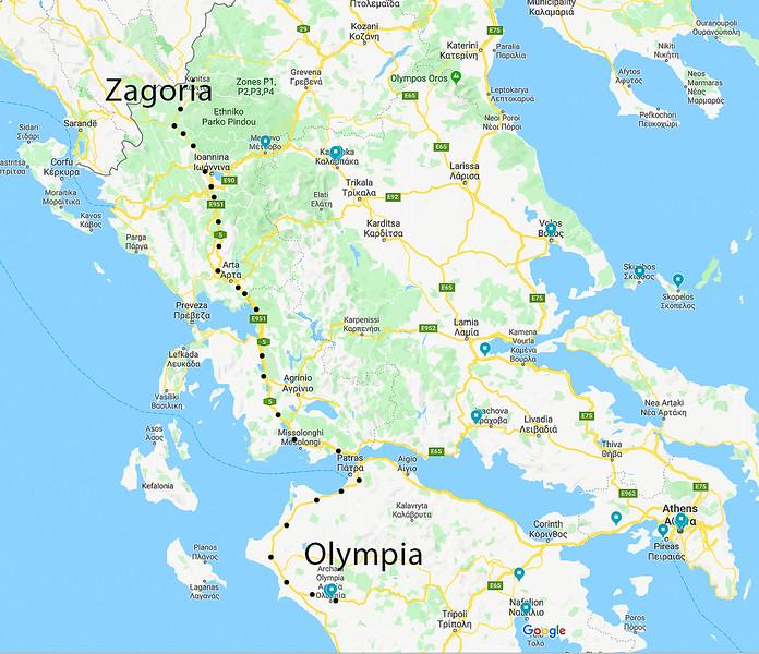Zagoria Olympia google map route.jpg