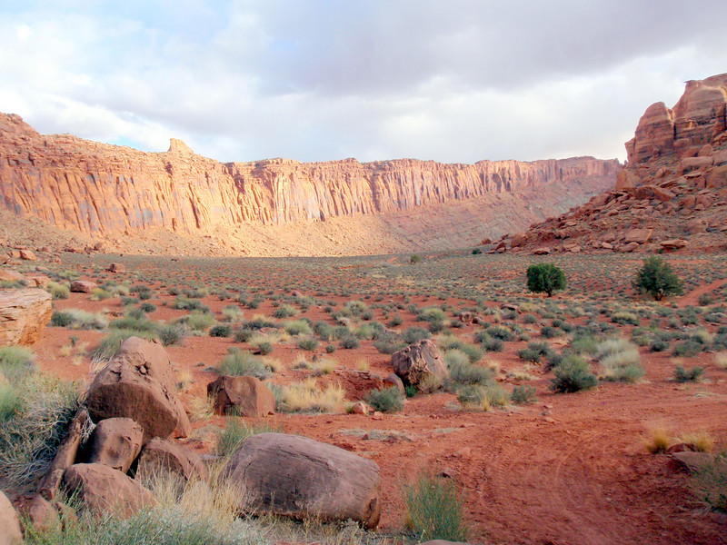 View from Bottom of Jacob's Ladder Near Moab, UT