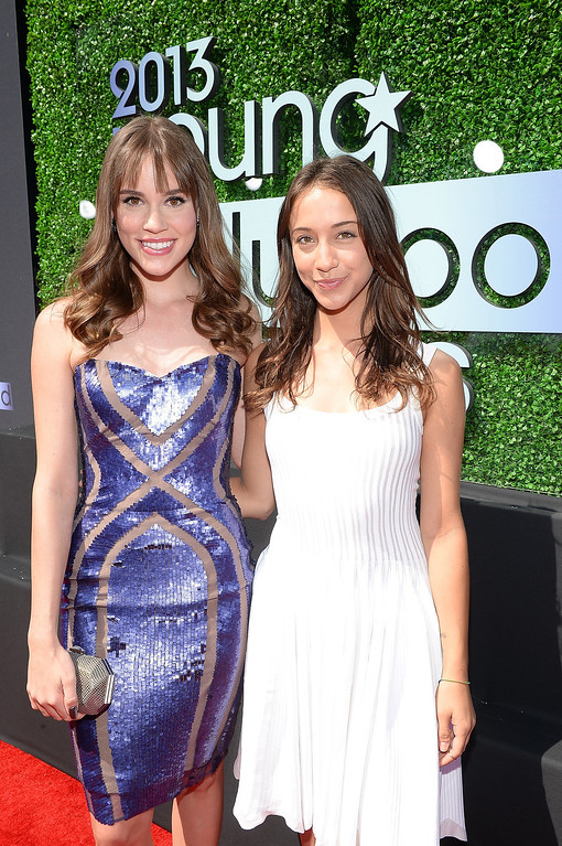 . Actors Christa B. Allen (L) and Stella Maeve attend CW Network\'s 2013 2013 Young Hollywood Awards presented by Crest 3D White and SodaStream held at The Broad Stage on August 1, 2013 in Santa Monica, California.  (Photo by Michael Buckner/Getty Images for PMC)