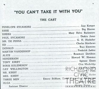 1951-1952 - You Can't Take It With You