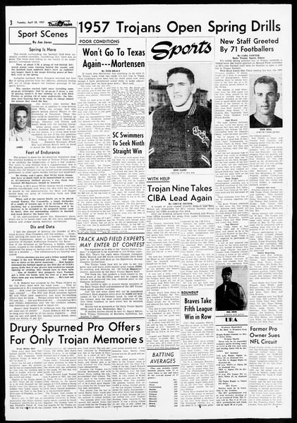 Daily Trojan, Vol. 48, No. 115, April 23, 1957