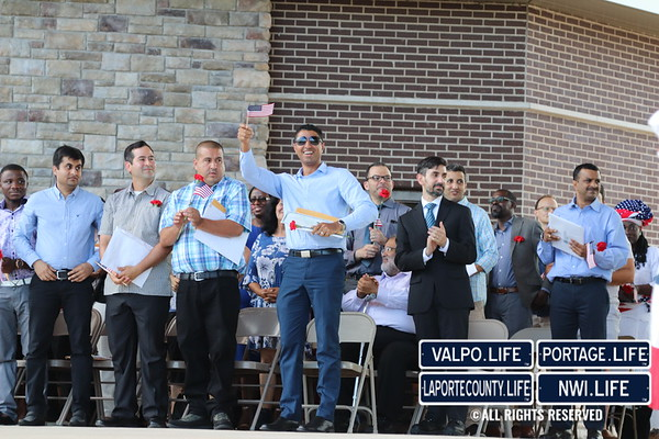 July Fourth Celebration of the Naturalization Ceremony at Wolf Lake 2019