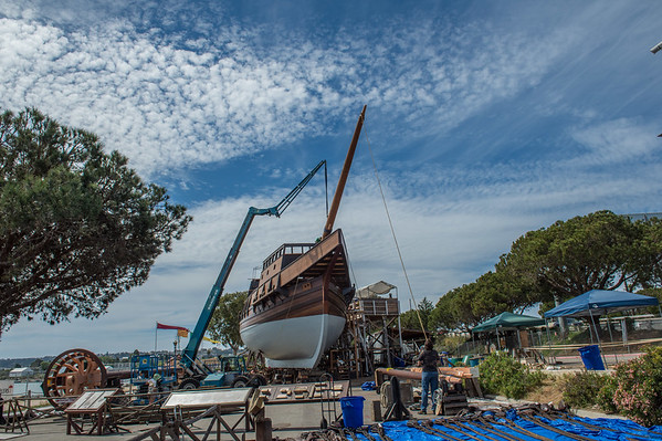 San Salvador Bowsprit fitting  March 17, 2015