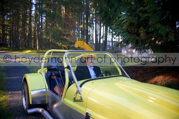 Calvin in Yellow Car