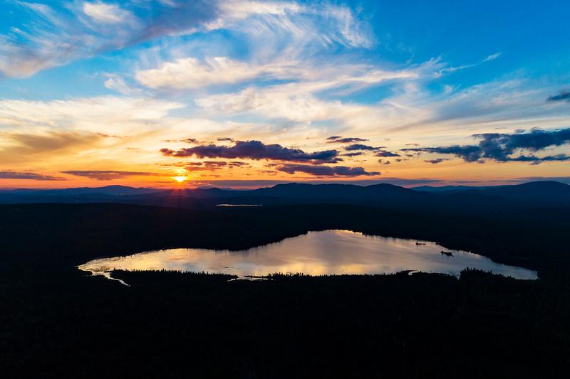 Sunset on Saddleback Lake