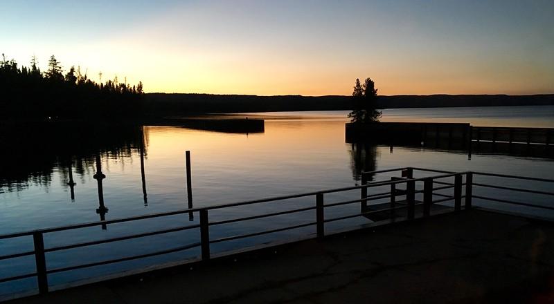 Sunset over Yellowstone Lake