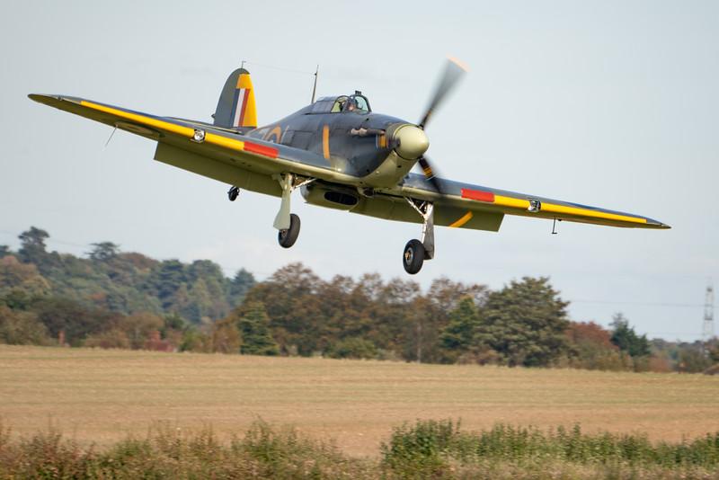Shuttleworth, Old Warden-> Race Day 2018-> Display-> Nod To Reno, Aircraft-> Hawker-> Hurricane-> Sea Hurricane Mk1B-> Z7015 - 07/10/2018@14:59