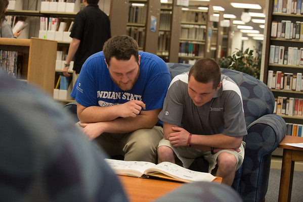Students Studying at Library