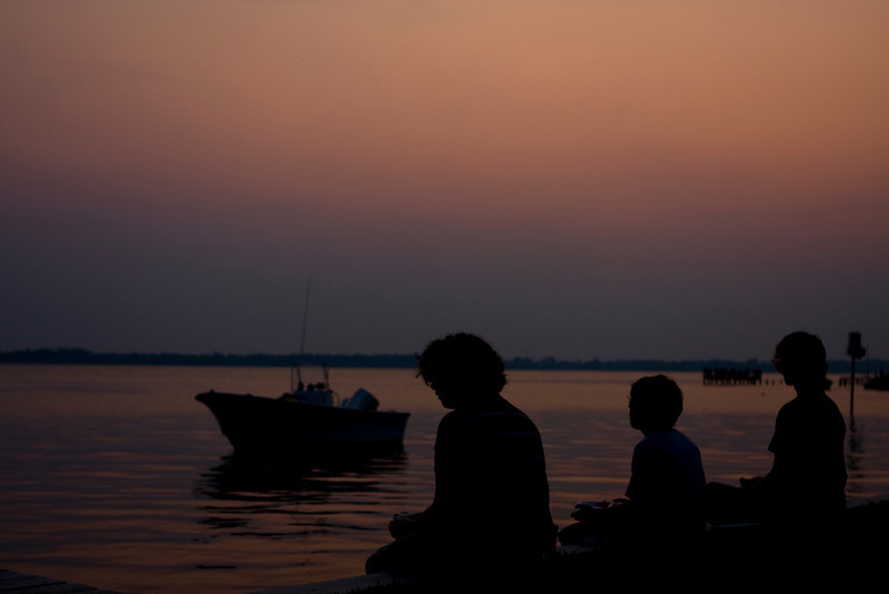 Sunset on the Pasquotank River