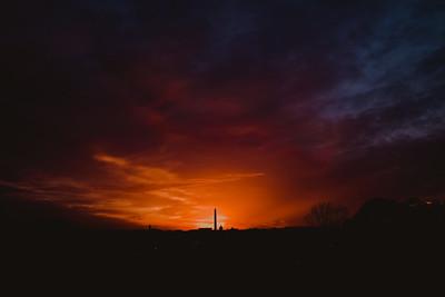 Washington, DC Skyline at Sunrise | Arlington, VA | Nature Photography