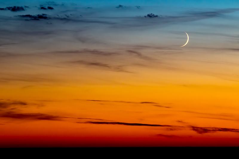 Inky Cresent Moon