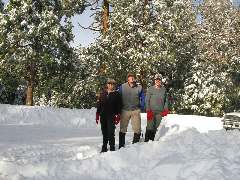 Alice, Tom and Lisa at the Greenhorn Summit where we will start our snow shoe hike
