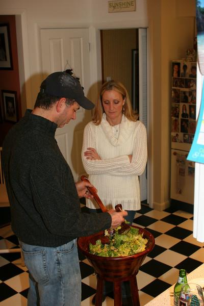 Chris is the Caesar salad master