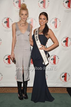 Victoria Secret Model Jessica Stam and  Miss USA 2014 Nia Sanchez