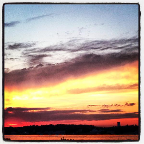 Sunset at Mass Maritime Academy, Bourne