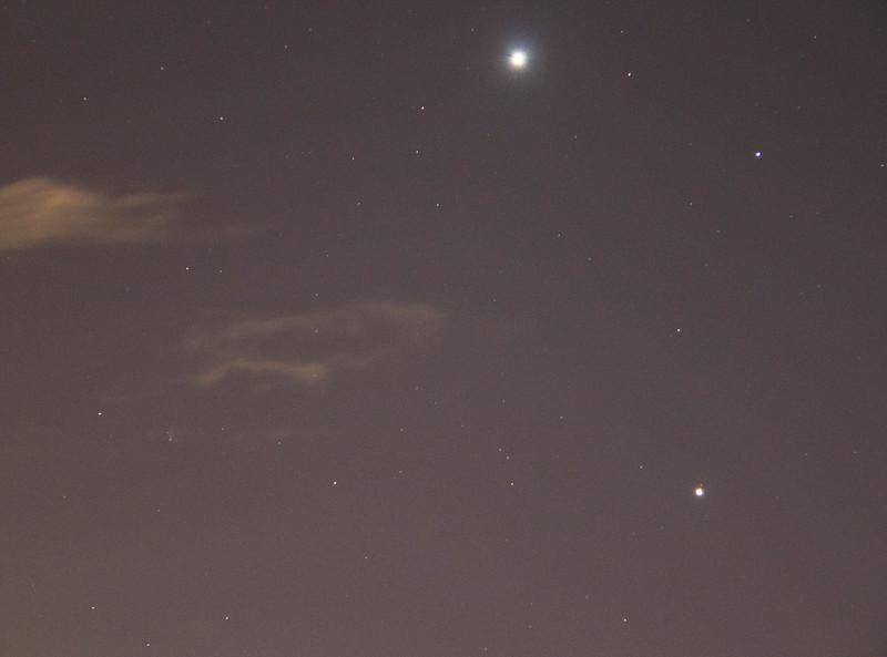 Comet PANSTARS C/2014 Q1 with Venus and Jupiter - 21/7/2015 (Processed image)