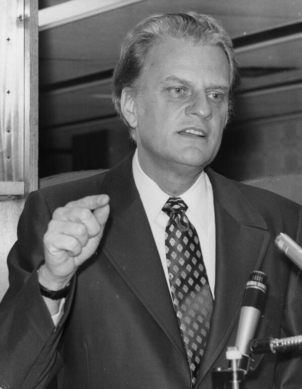 . 1971 Rose Parade grand marshal, Dr Billy Graham.  (Photo by Keystone/Getty Images)