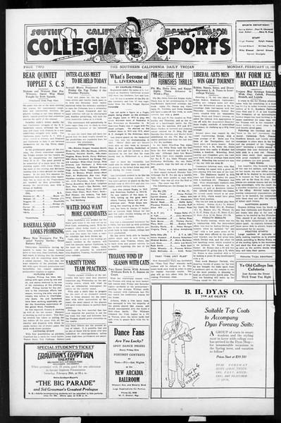 Daily Trojan, Vol. 17, No. 88, February 15, 1926