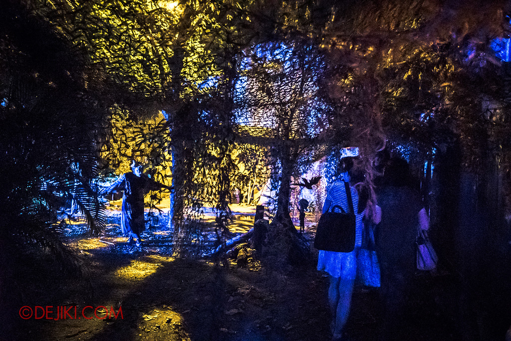 Halloween Horror Nights 7 - HEX haunted house / Walking towards the Hut