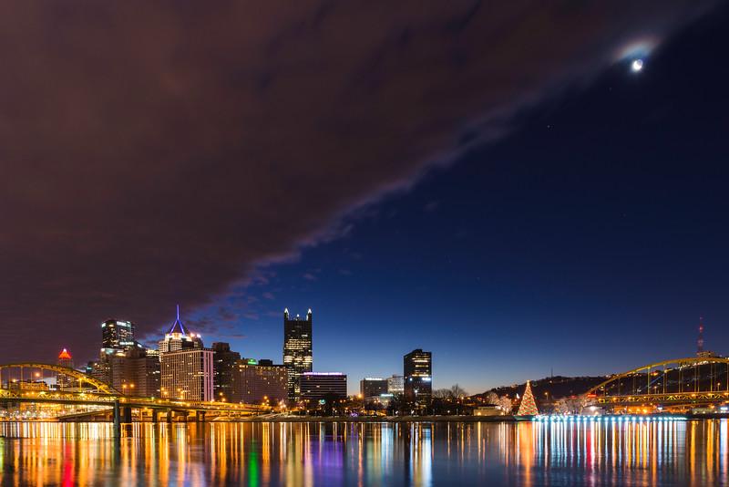 Christmas Crescent North Shore Sunrise Pittsburgh Moon.jpg
