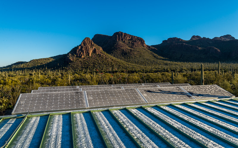 Morning  Frost on Solar Panels #1
